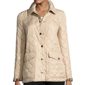 Burberry Quilted Jacket in Dark Stone